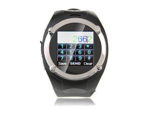 SVP ® MQ998 GSM Quad-band Unlocked Watch Phone - Black + 8GB MicroSD