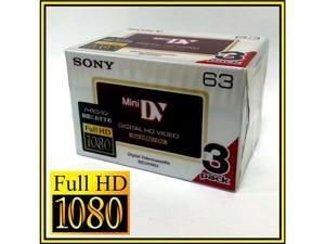 Sony HD HDV tape DVM-63HD Mini DV 4 HDR-HC9 camcorder tapes (3 PACK)
