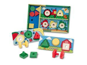 Melissa & Doug Sort, Match, Attach Nuts and Bolts Boards