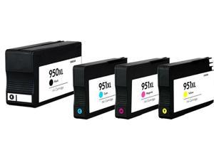Superb Choice® Remanufactured ink Cartridge for HP 950XL/951XL(Black/Cyan/Magenta/Yellow) use in HP Officejet Pro 8610 Printer