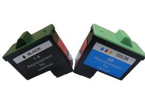 Superb Choice® Compatible ink Cartridge for Lexmark 16/26(Black/Color) use in Lexmark Z25 Printer