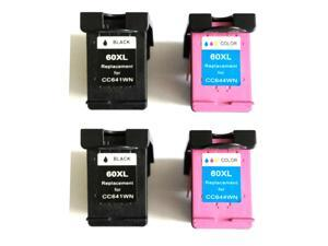 Superb Choice® Remanufactured Ink Cartridge for HP PhotoSmart C4700 C4740 C4750 C4780(pack of 2 Black 2 Color)