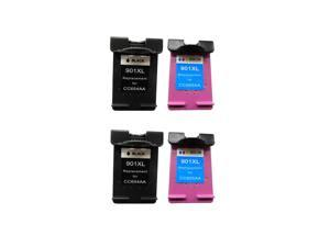 Superb Choice® Remanufactured Ink Cartridge for HP 901XL(Black/Color) use in HP Officejet 4500 Printer - pack of 2 sets
