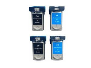 Superb Choice® Remanufactured ink Cartridge for Canon PG-30 (2 Black) and CL-31 (2 Color)s for Canon PIXMA iP1800 iP2600 MP140 MP210 MP470 MX310 MX300 MP190 Printers