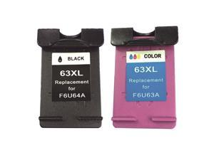 Superb Choice® Remanufactured ink Cartridge for HP 63XL use in HP OfficeJet 3830 (Black/Tri-Color)