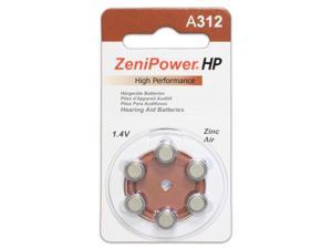 ZeniPower Size 312 Hearing Aid Batteries (60 Batteries)