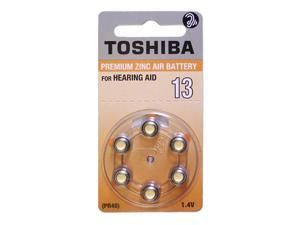 Toshiba Size 13 Hearing Aid Batteries (60 Batteries)