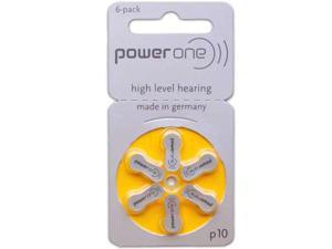 PowerOne Size 10 Hearing Aid Batteries (60 Batteries)