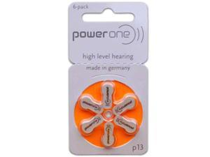 PowerOne Size 13 Hearing Aid Batteries (60 Batteries)