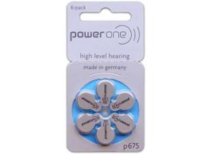 PowerOne Size 675 Hearing Aid Batteries (60 Batteries)