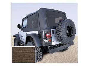 Rugged Ridge 13728.36 XHD Soft Top, Khaki, Tinted Windows, 97-06 Jeep Wrangler TJ
