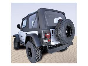 Rugged Ridge 13727.35 XHD Soft Top, Black, Clear Windows, 97-06 Jeep Wrangler TJ