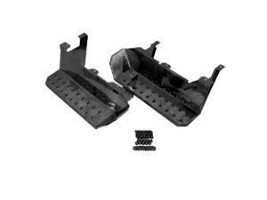 Rugged Ridge 11139.02 Side Steps Pair Semi Gloss Black 76-86 Jeep CJ