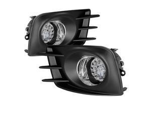 Spyder Auto FL-LED-STC2011-C LED Fog Lights w/ Switch&#59; Clear Lens