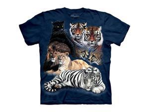 The Mountain Big Cat Collage Tigers Lions Tee Tshirt ChildCHILD