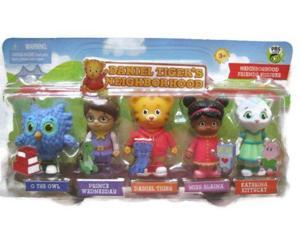 Daniel Tigers Neighborhood Friends Figures Set Owl Prince Daniel Elaina Kittycat