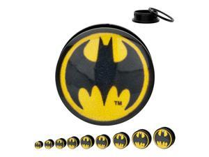 DC Comics Batman Bat Signal Acrylic Screw Fit Plugs 2G-1/2""