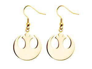 Star Wars Stainless Steel Rebel Alliance Dangle Earrings