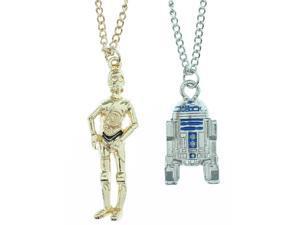 Star Wars R2D2 & C-3PO Best Friends 3D Pendant Necklace