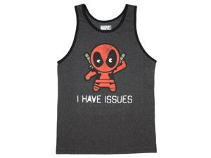 Marvel Deadpool Tinypool I have Issues Tank Top