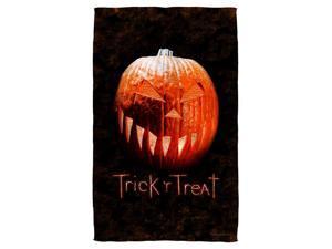 Trick R Treat Pumpkin Golf Towel W Grommet White 16X24
