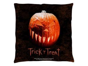 Trick R Treat Pumpkin Throw Pillow White 26X26