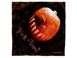 Trick R Treat Pumpkin Poly 22X22 Bandana White One Size