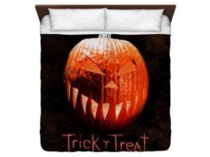Trick R Treat Pumpkin King Duvet Cover White 104X88