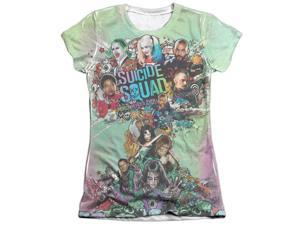 Suicide Squad Psychedelic Cartoon (FB Print) Juniors Sublimation Shirt