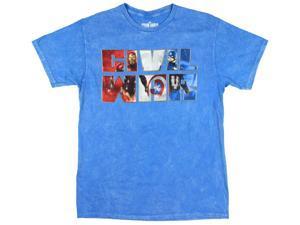 Marvel Comics Captain America Civil War Caps Graphic T-Shirt