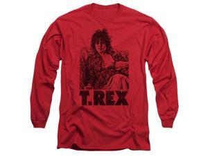 T Rex Lounging Mens Long Sleeve Shirt