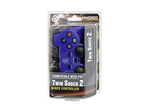 Hydra Performance® PS2 Wired Analog Controller TWINSHOCK for Sony PlayStation 2 - BLUE