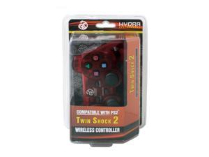 Hydra Performance® Wireless Controller 2.4G Clear Red Compatible with Sony Playstation 2 PS2