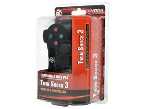 Hydra Performance® PS3 Twin Shock 2.4 Ghz Wireless Controller Gamepad for PlayStation 3 - Black