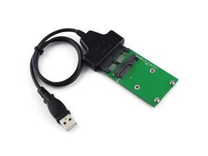 USB Micro SATA + Mini PCIE to mSATA 3x5cm SSD Micro SATA Adapter Card Cable