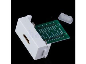White Wall Plate HD HDMI V1.4 Welding Module with Screws
