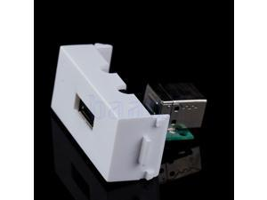 USB B Female to USB A Female Socket Faceplate Straight Panel Wall Plate