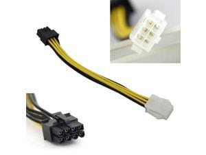 14cm PCI-Express 6 Pin Male to 8 Pin Female Video Card Extension Power Cable