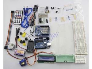 Baaqii Arduino Starter Kit UNO R3 Step Motor Servo 1602 LCD Screen Breadboard Jumper cable Whole set For Arduino Beginner Starter Learning Study New