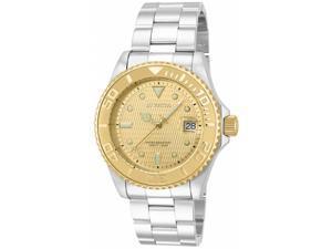 Invicta Men's 14756 Pro Diver Automatic 3 Hand Gold Dial Watch