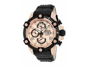 Invicta Men's 12502 Reserve Automatic Chronograph Rose Gold Dial Watch