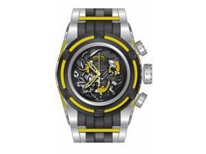 Invicta Men's 14194 Bolt Quartz 3 Hand Black, Yellow Dial Watch