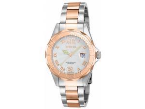 Invicta Women's 14792 Pro Diver Quartz 3 Hand White Dial  Watch