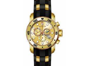 Invicta Men's 17884 Pro Diver Quartz Multifunction Gold Dial Watch