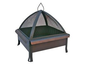 Landmann 25413 24 x 24 in. Tudor Fire Pit with Cover