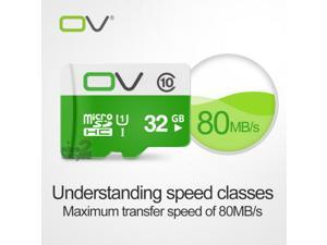 OV Ultra High Speed Class 10 UHS-1 MicroSD TF Memory Micro SD Card 32G SDHC for Smartphone Mobile Cell Phone Tablet PC 32GB 80MB/s
