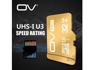 OV PRO 32GB Ultra High Speed Class10 SDHC UHS-1 U3 MicroSD TF Flash Micro SD Card 32G SDHC for Mobile Cell Phone Smartphone Tablet PC 4K Cam Memory Expand Storage