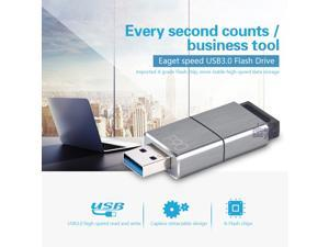 EAGET F90 256GB USB 3.0 Flash Drive Ultra Fast Metal Water Resistant Pen Portable Disk Memory 256G Media Storage Expand