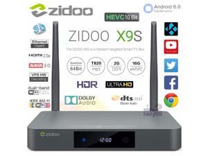 NEW ZIDOO X9S Android 6.0 + OpenWRT Quad Core Realtek RTD1295 2G 16G KODI 4K Smart TV Box Media Player Dual Band WiFi 2.4G 5G HDMI 2.0 Bluetooth Gigabit Ethernet LAN