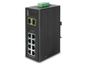Planet Technology IGS-10020MT Industrial 8-Port 10/100/1000T + 2 100/1000X SFP Managed Switch